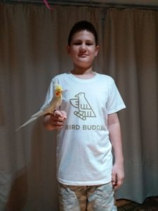 birdbuddy t-shirt model