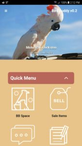 birdbuddy home page quick menu