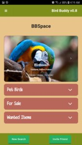 bird buddy bbspace profile layout